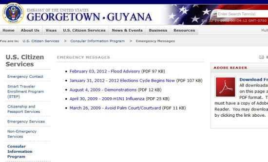 US Embassy Guyana Is This The Consequence Of Midlevel Staffing - Us embassy bangkok map