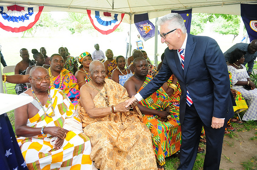 Ambassador Gene Cretz, Fourth of July, US Embassy Ghana (photo via US Embassy Ghana/Flickr)