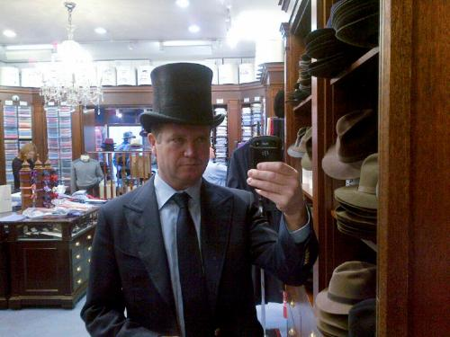 @MatthewBarzun Diplomacy is a balancing act, like wearing a top hat. Preparing for my #CredentialsCeremony