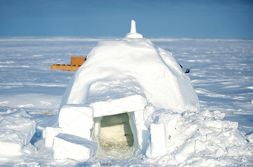 Igloo in Alert, Nunavut Photo via US Embassy Canada