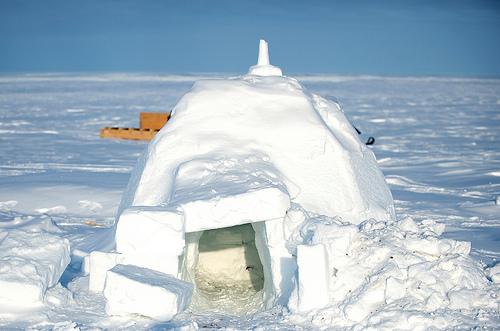 Igloo in Alert, Nunavut Photo via US Embassy Canada