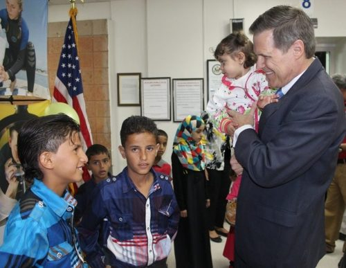 U.S. Ambassador to Yemen Matthew H. Tueller, along with Embassy Sana'a Consular staff, hosted a special weekend event to register the births of children born in Yemen who are eligible for American citizenship