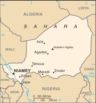 US Embassy Niger Schools Attended By Official American Dependents - Us embassy niger map