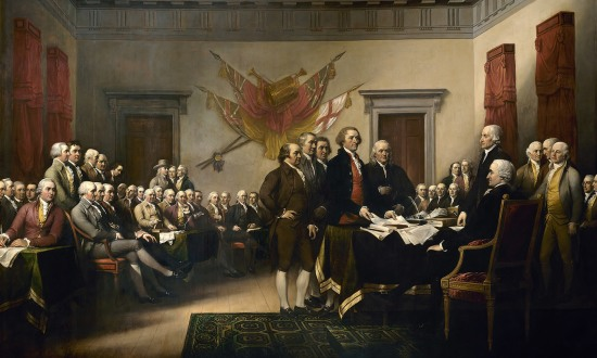 The Declaration of Independence by John Trumbull, 1819. Courtesy Wikimedia